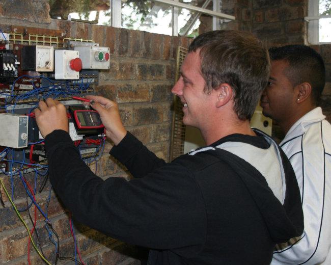 RTC learner testing starDelta wiring panel